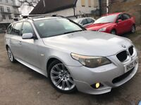 BMW 535D ESTATE AUTOMATIC 2005 M SPORT FULL BMW HISTORY SATNAV HEATED LEATHER FULLY PANORAMIC ROOF