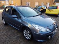PEUGEOT 307 PETROL AUTOMATIC-2007 MODEL-CRUISE CONTROL-ALLOY-SERVICE HISTORY-2 KEYS not 206 ford car