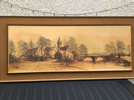 Folland Landscape Painting and Small Portrait