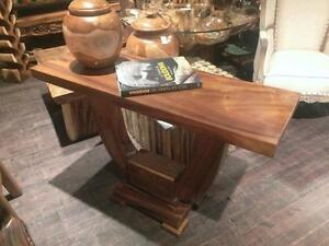 Table d'appoint/Console en Bois de Suar massif -Indonesie // Solid Suar wood Console Table from Indonesia