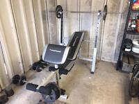 Weight bench/ Cast Iron Weight Plates/ Gym and Fitness Equipment