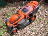 Flymo electric lawnmower. 16 inch cut. GWO.