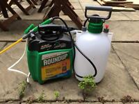 Never used Round Up Weed Killer Set with Spray Nozzle