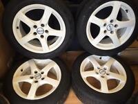 "16"" Oz alloy wheels Vauxhall fit 5/110 Astra vectra Zafira"