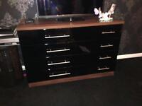 Wardrobe and set of drawers