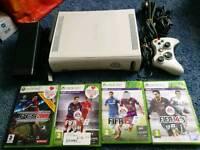 Xbox 360 plus 4 football games