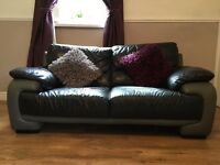 Italian leather sofas. One two and one four seater
