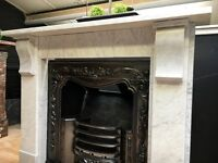 Antique Period Marble Fireplace
