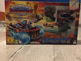 SKYLANDERS SUPERCHARGERS STARTER PACK AND FIGURES