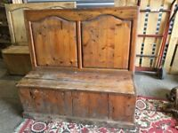 Church Bench Pew - Settle - Project - Seating - Unique - Quirky