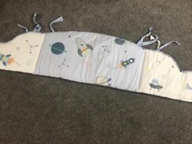 Mothercare space dreamer cot bumper £7.50