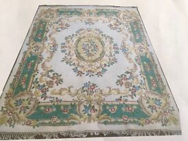 Large Hand Knotted Pure Wool Indian Rug