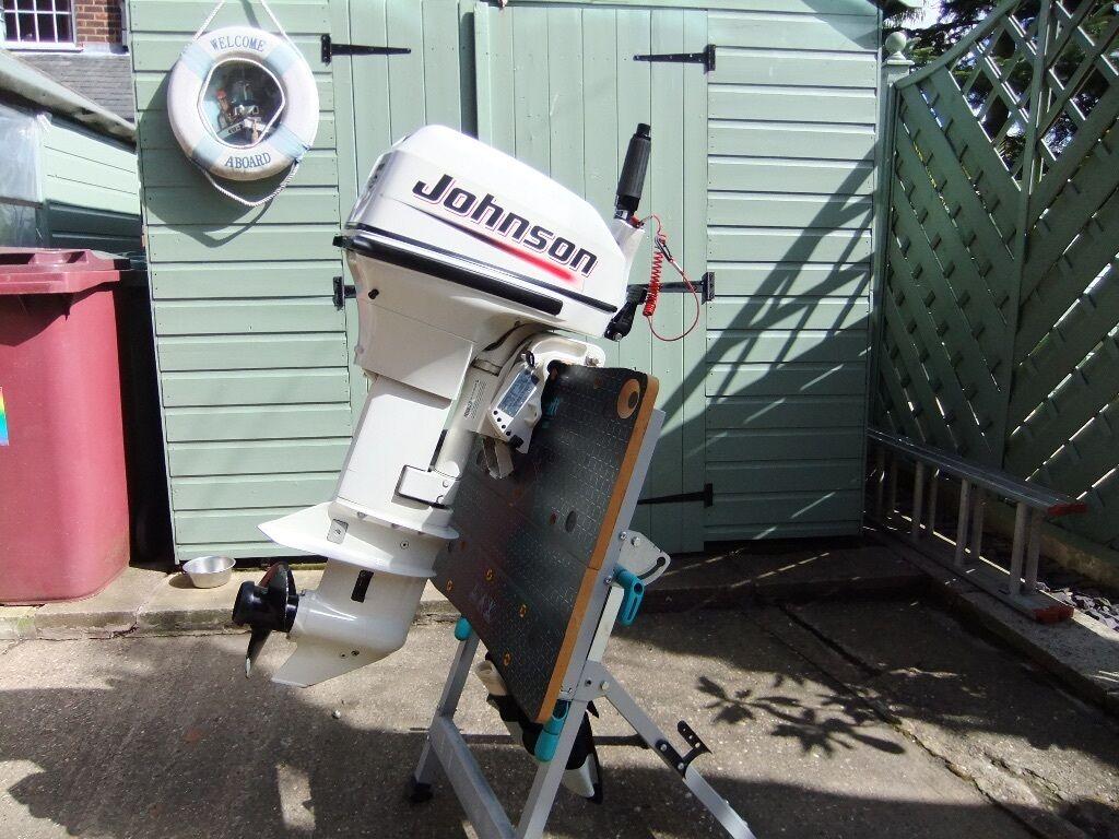 Johnson 9 9 hp 2 stroke short shaft outboard motor engine for Mercury 9 hp outboard motor