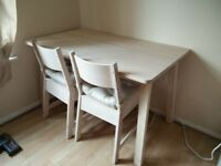 White Birch Dining Table