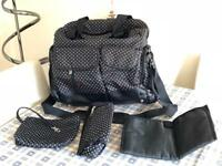 Black Spotted Changing Bag/Rucksack by Allis