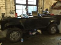 Land Rover defender 90 desk/work bench
