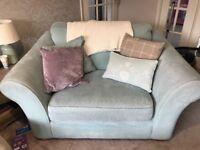 Next duck egg cuddle sofa