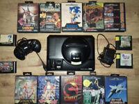 Sega Megadrive retro console with 17 games