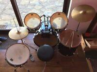 CB Junior Drum Kit inc Seat and Sticks