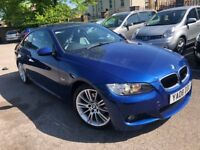 BMW 320i M SPORT 2008, LEMANS BLUE, FULL SERVICE HISTORY, HEATED LEATHER SEATS, GOOD TYRES, XENON