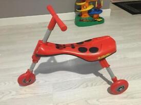 Scuttle bug Ladybird ride on bike
