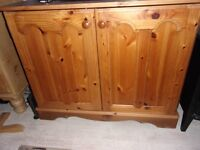 solid pine cupboard shelf tv storage great condition