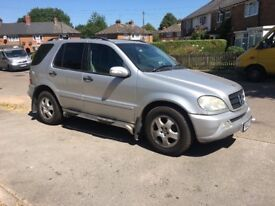 Mercedes Ml 270 CDI.. 2 Owners From new.. Starts & Drives Bargain £1150