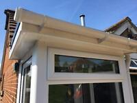 White / Cream UPVC storm porch with guttering