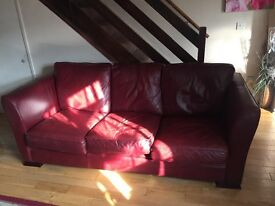 Real Italian Leather Sofa