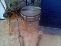 1920s Premier snare plus stand and more.