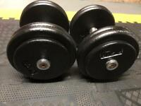 26.8 kg dumbbells weights