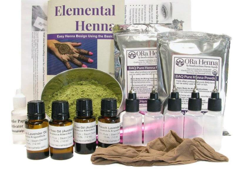 PROFESSIONAL Complete Large Henna Kit: Start a Business -Salons-Spas 200g Powder