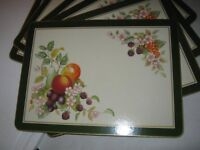 JOHNSON BROTHERS FRESH FRUIT Fruit Table Mats / place mats x 6