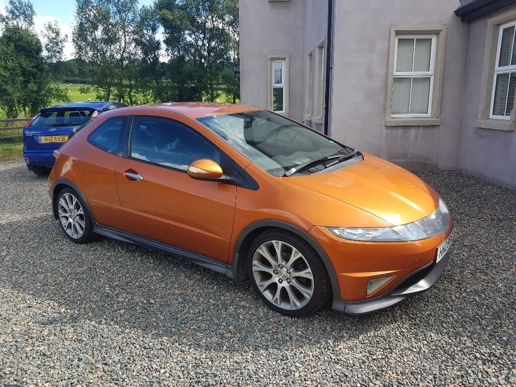 honda civic type s 1 8 2008 tangerine orange in omagh county tyrone gumtree. Black Bedroom Furniture Sets. Home Design Ideas