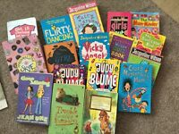 17 girls books , Jacqueline Wilson, Judy bloom