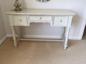 Cream wooden bedroom furniture,