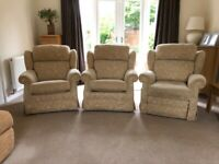 3 Parker Knoll armchairs