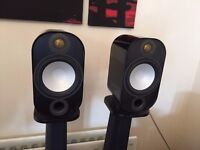 Pair of Monitor Audio Apex A10 Speakers Gloss Black MINT