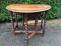 antique gate leg table with barley twist legs vintage shabby chic project