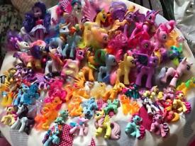 56 plus my little ponies mixture of sizes as seen in picture