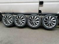 Alloy wheels 5x112 audi vw new tires