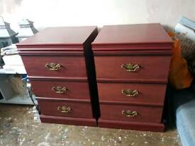 Large Bedside Cabinets (pair)