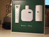 Lacoste L.12.12 Blanc 100ml - Gift set - Eau De Toilette Spray - Him Mens - Brand new