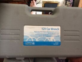 12v car wrench with car lighter and battery clips