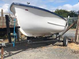 14ft Dingy with Road Trailer