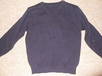 New navy school cardigan 4-5 yrs