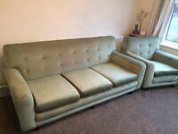 Genuine Retro Sofa and Armchairs