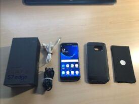 SAMSUNG S7 EDGE UNLOCKED mobile phone with accessories FREE SPIGEN CASE