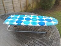 Mini table top ironing board