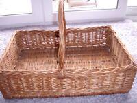 Large whole wicker basket. unused